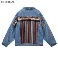 Boho Embroidery Denim Jackets For Women Long Sleeve Casual Outwear Female Autumn Winter Loose Jean Coats Boyfriend Chaqueta 2311