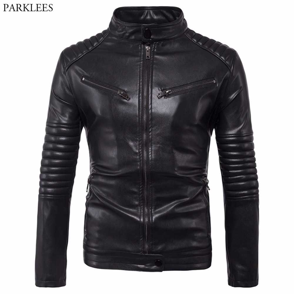 Motorcycle Leather Jacket Men 2017 Autumn Winter Men PU ...