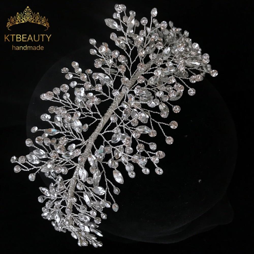 us $56.89 |aliexpress : buy 2108 new custom handmade crystal gorgeous bridal headpiece wedding bridal hair accessories headband rhinestone