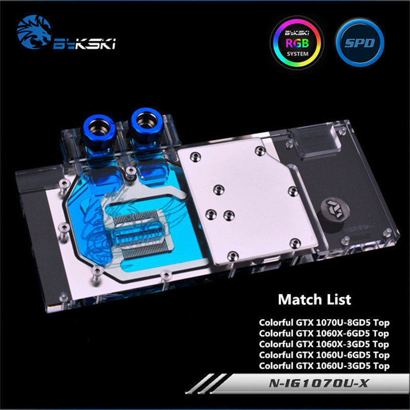 Здесь продается  Bykski Full Coverage GPU Water Block For Colorful GTX1070U GTX1060X TOP Graphics Card N-IG1070U-X  Компьютер & сеть
