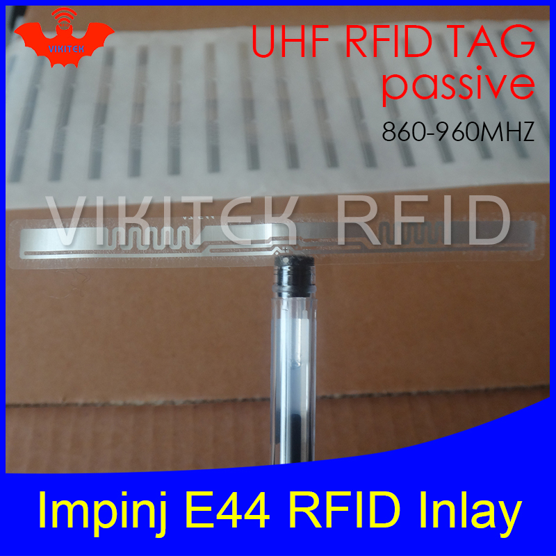 UHF RFID tag Impinj E44 dry inlay 915mhz 900mhz 868mhz 860-960MHZ Higgs3 EPCC1G2 6C smart card passive RFID tags label 860 960mhz long range passive rfid uhf rfid tag for logistic management