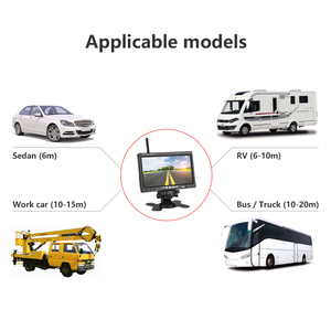 """Image 4 - Jansite 7"""" Wireless Car monitor TFT LCD Car Rear View Monitor Parking Rearview System for Backup Reverse Cameras Support Auto TV"""