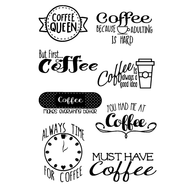 Coffe Quotes Transparent Clear Silicone Stampseal For Diy