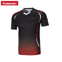 Genuine kawasaki st 171005 men t shirt v neck short sleeve badminton shirts tennis t shirt.jpg 250x250