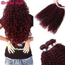Ornate Brazilian Kinky Curly Hair Bundles 100% Human Hair Extension Afro Kinky Curly Weave Bundles 99J Non Remy Hair