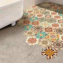Funlife Baroque Anti-slip floor sticker,Geometry Hexagon Mat Design Wall Sticker,Self-adhesive Waterproof Home Decor Bathroom