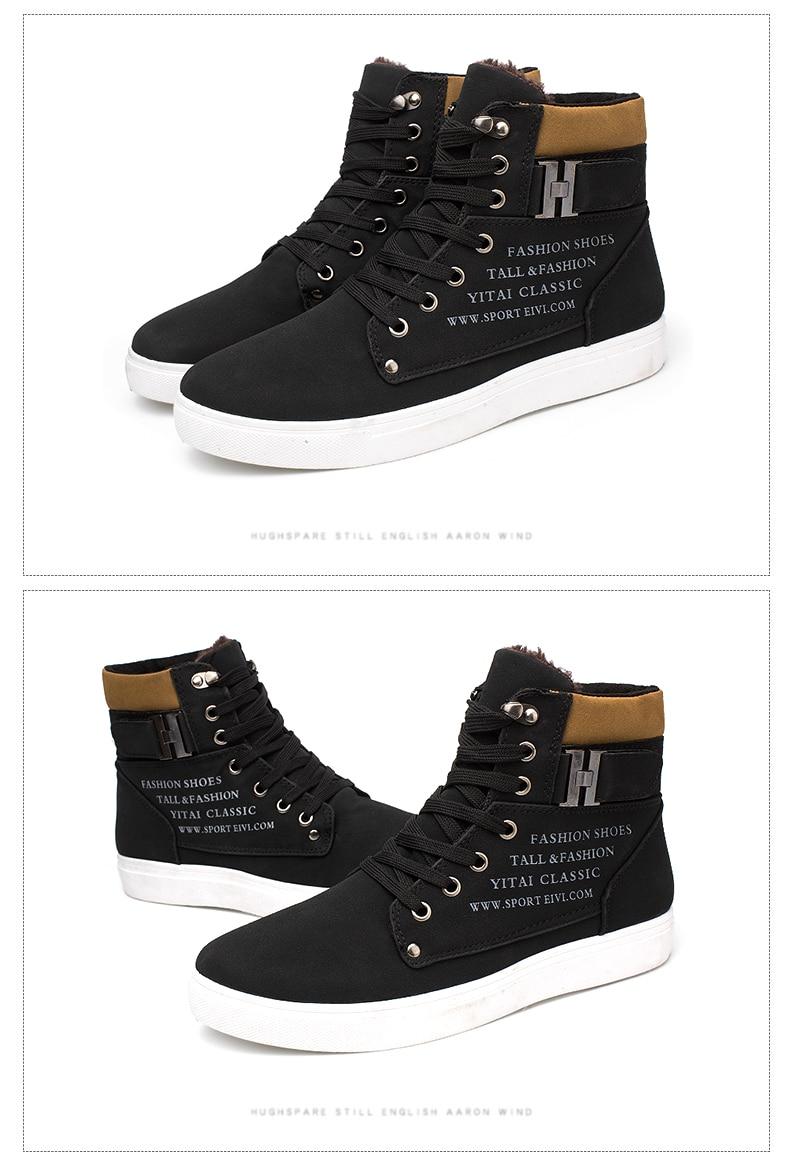 HTB10 OSKaSWBuNjSsrbq6y0mVXaL DEKABR Hot Men Shoes Fashion Warm Fur Winter Men Boots Autumn Leather Footwear For Man New High Top Canvas Casual Shoes Men