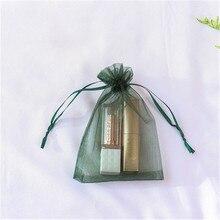 7x9cm 9x12cm 10x15cm 13x18cm Organza Bag Wedding Candy Fashion Soft Style Special Design Storage Jewelry  Gift Package 10pcs