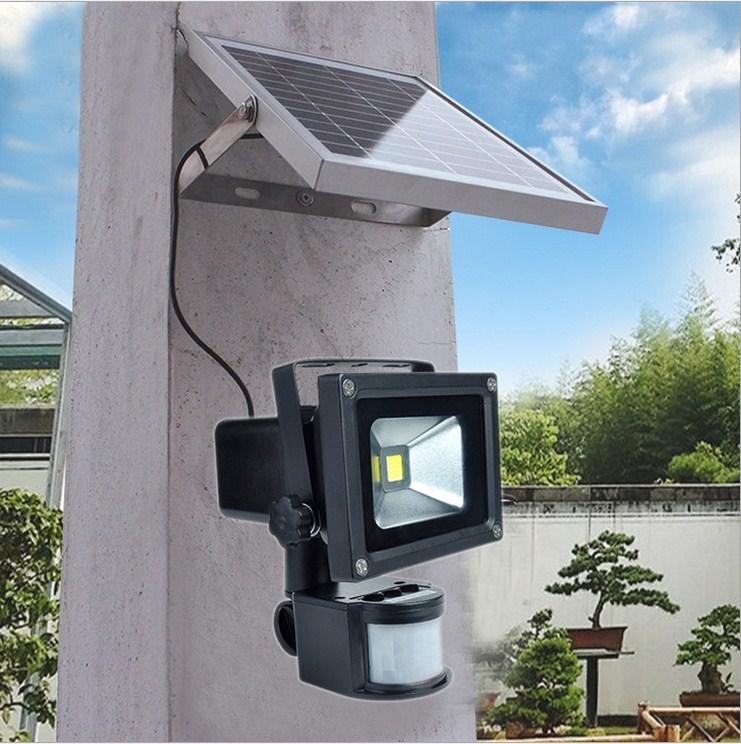 LED Motion Sensor Floodlight 10W Outdoor Solar Floodlight 6V PIR Waterproof led Reflector Solar Panel Spot light ultrathin led flood light 200w ac85 265v waterproof ip65 floodlight spotlight outdoor lighting free shipping