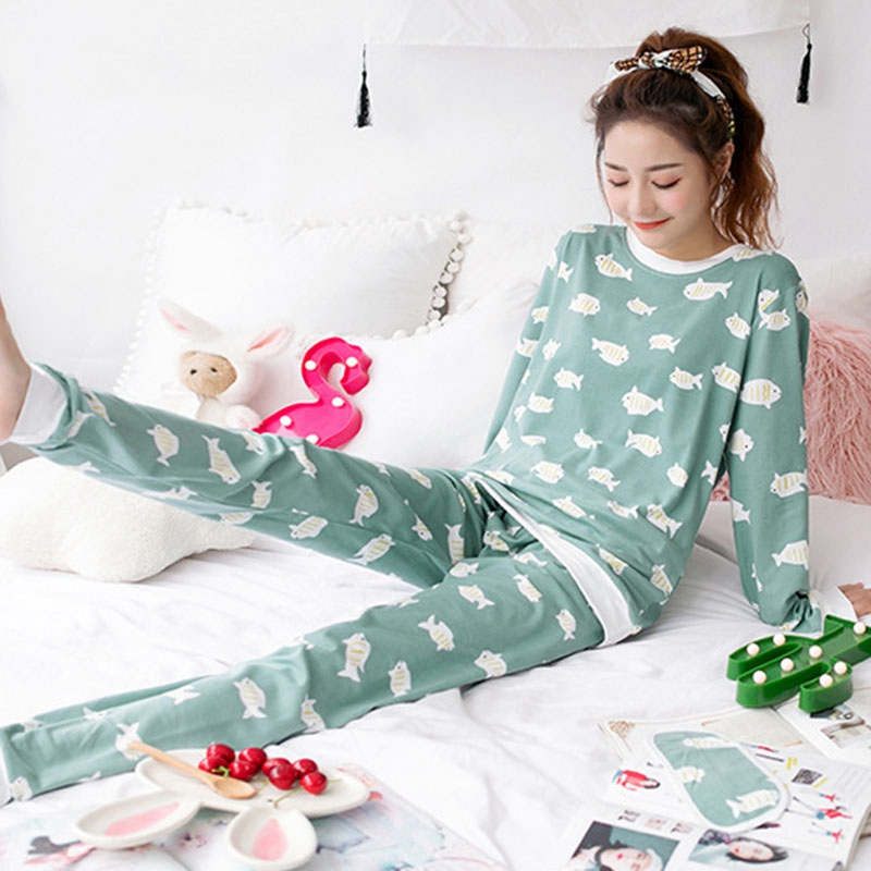 Womens Cute   Pajamas     Sets   with Blinder Long Sleeve Suit Banana Animal Cartoon Girls Sleepwear Women Pijamas for Home Pyjama Femme
