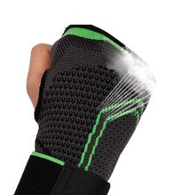 Gym Palm Pad Protector 3D Weaving Pressurized High Elastic Bandage Fitness Yoga Wrist Palm Support Crossfit Powerlifting 7214