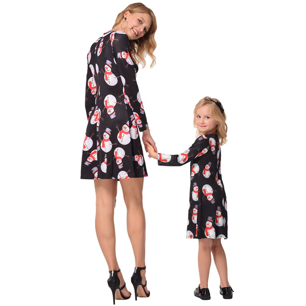 d8aea4c9956d mother daughter dresses family christmas pajamas mommy and me matching  outfits mama mom mum baby girl dress look clothing 4color - aliexpress.com  - imall. ...