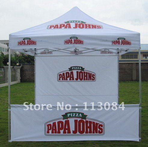 Jakość 40x40x1.8mm 3x3m (10x10 stóp) mocny aluminiowy Pup Up namiot altana namiot z spersonalizowanym nadrukiem Logo
