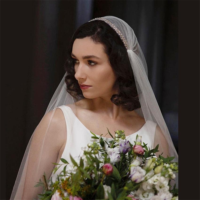2019 New Long Vintage Juliet Bridal Wedding Veils White Ivory Beaded Tulle Veil For Brides Voiles Mariage  Velo De Novia Longue