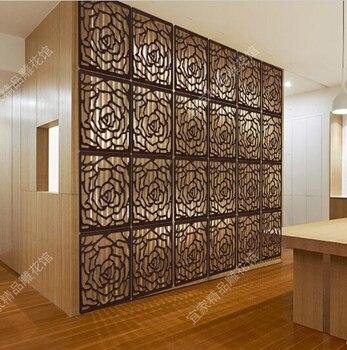 خشبية غرفة مقسم منحوتة ورود عالية الجودة نمط الخشب لوحة شاشة قابلة للطي رخيصة شاشة قابلة للطي Paravent غرفة مقسم 29 سنتيمتر