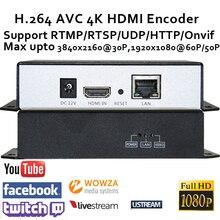 H.264 4K HDMI Video Encoder pro živé vysílání Podpora Broadcast RTMP / RTSP / RTP / UDP / HTTP