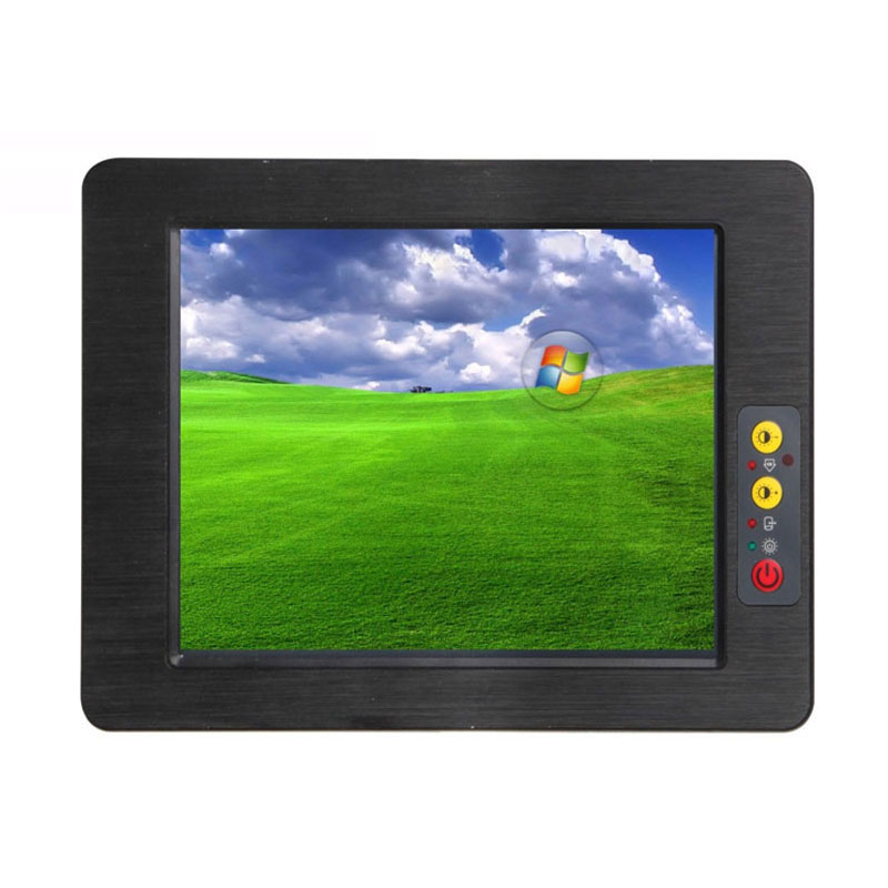 High Quality 8.4 Inch Embedded Mini Fanless Industrial Panel PC With Intel Atom N2800 Dual Core AMT Resistive Touch Screen PC