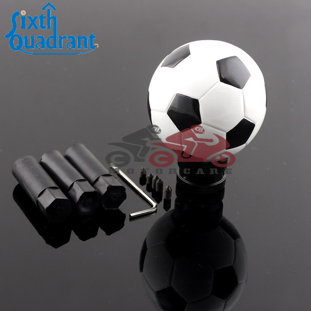 football shape car resin manual gear stick shift shifter lever