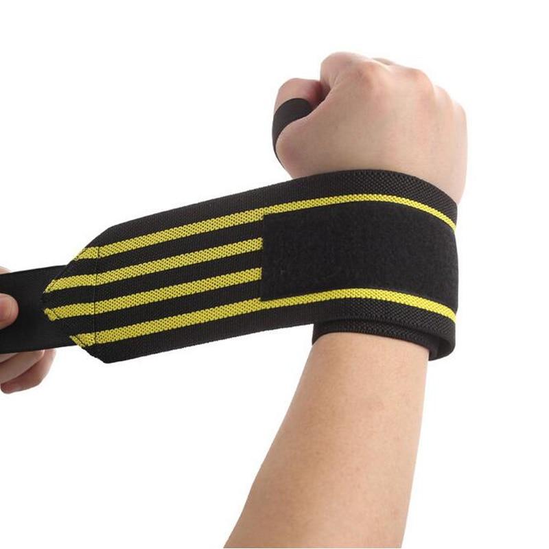 Fitness Wristband Regulowana opaska na nadgarstek Bandaż Oddychająca siłownia Treningowa Wrist Band do trójboju do koszykówki CrossFit
