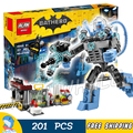 201pcs New Super Heroes Batman 07049 Mr. Freeze Ice Attack DIY Model Building Kit Blocks Gifts Movie Toys Compatible with Lego