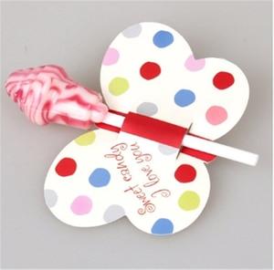 Image 5 - 50/25Pcs Nice Cute DIY Santa Claus/Snowman/Penguin Paper Invitation Cards Lollipop Christmas Gift Package Decor