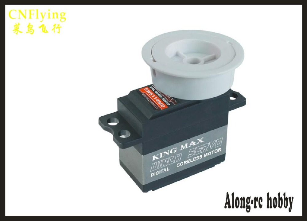 FREE SHIPPING- SW6114MD 61g 14kg.cm, digital servo, metal gears sail winch servo / boat servo jx pdi 5521mg 20kg high torque metal gear digital servo for rc model