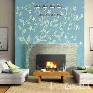 Comedor de papel tapiz mural paisaje / decoración de paredes de la ...