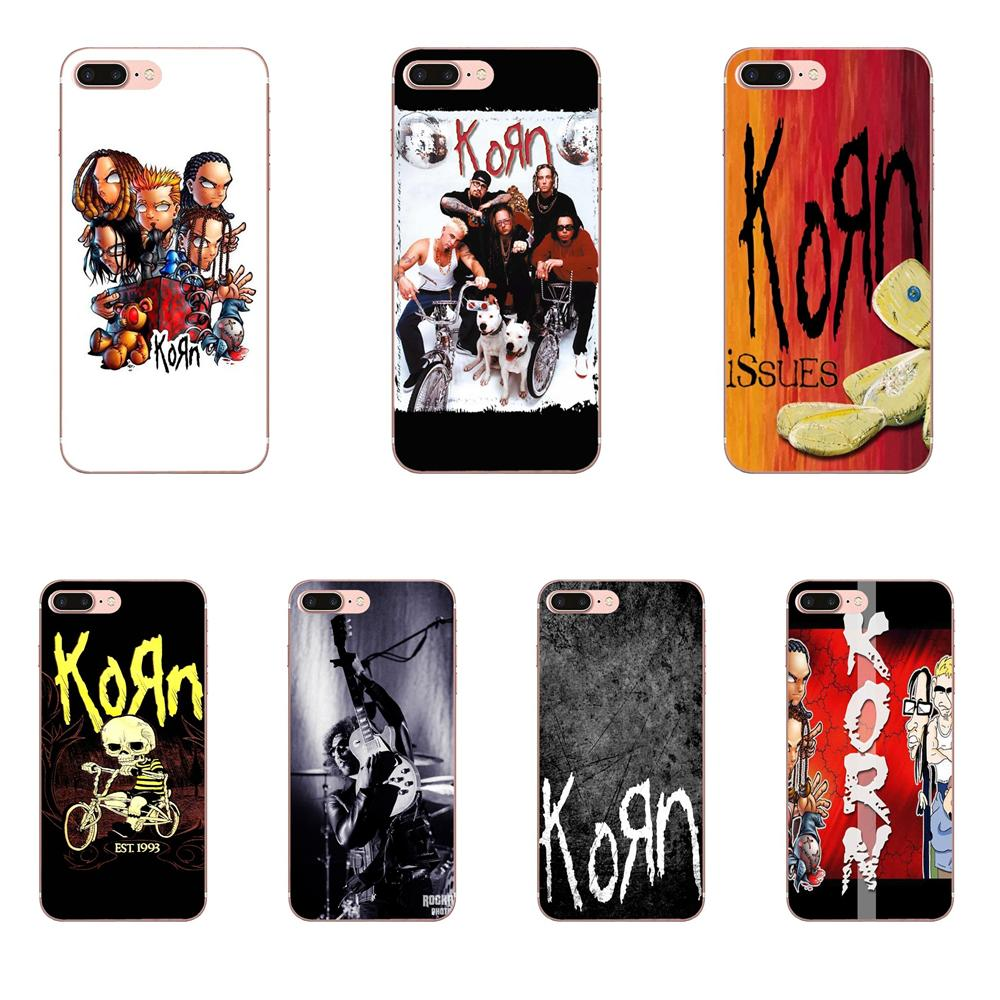 Beutel Rock-band-stil Korn Band Taschen Für Apple iPhone 4 4 S 5 5C 5 S SE 6 6 S 7 <font><b>8</b></font> plus X XS Max XR Ultra Dünne Cartoon Muster Tou Telefon Fall image
