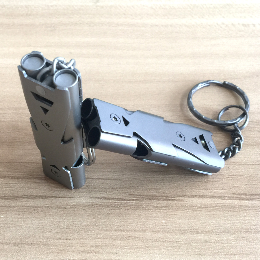 Emergency Survival Whistle Keychain for Hiking Camping Outdoor Sports Tools EDC gear Double Channel Whistle