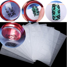 3pcs/Set Nail Art 3.5cm Jelly Stamper Stamping Silicone With Cap + Scraper + Plate Template Polish Image Transfer Manicure Tools