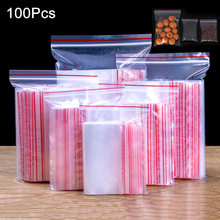 100pcs Multifunctional Convenient Transparent Sealed Bag 0.12mm Ziplock Zip Zipped Lock Reclosable Plastic Thickness XH8Z AU07(China)