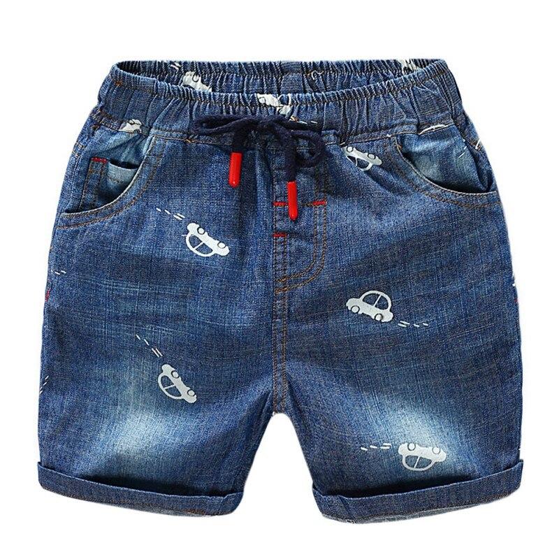 Summer Toddler Boy Shorts Car Pattern Cotton Short Pants Trousers