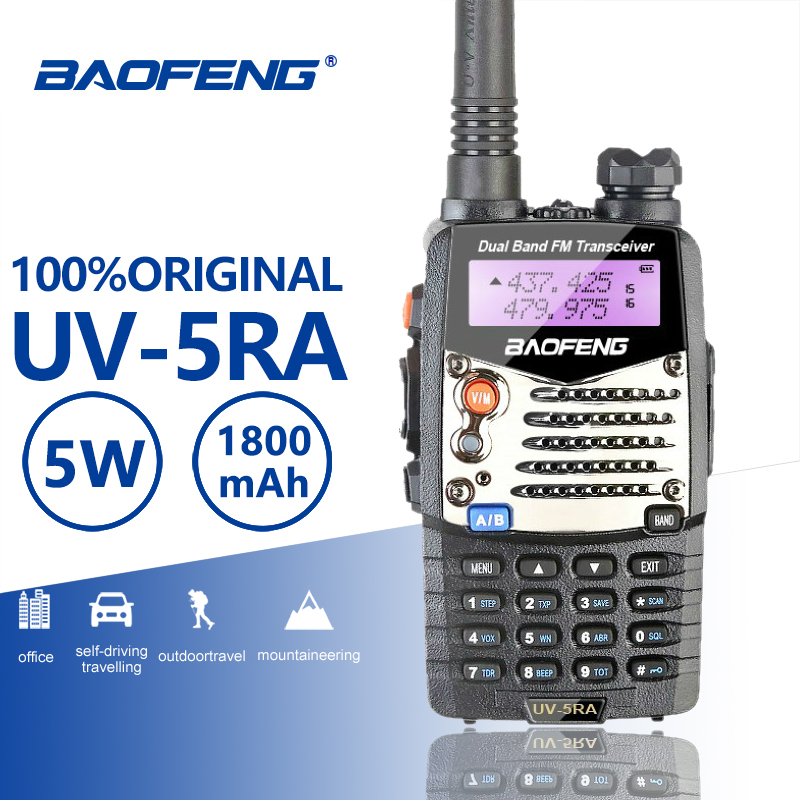 Baofeng UV 5RA Walkie Talkie Alarm LED Flashlight Two Way Radios Dual Band Ham Hf Transceiver Baofeng UV 5R Upgraded Interphone
