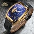 SEWOR мужские новые модные люксовый бренд Tourbillion механические Автоматические часы военные часы мужские спортивные часы Бесплатная доставка ...