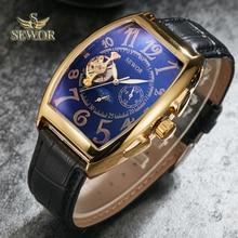 SEWOR Mens New Fashion Luxury Brand Tourbillion Mechanical Automatic Wa