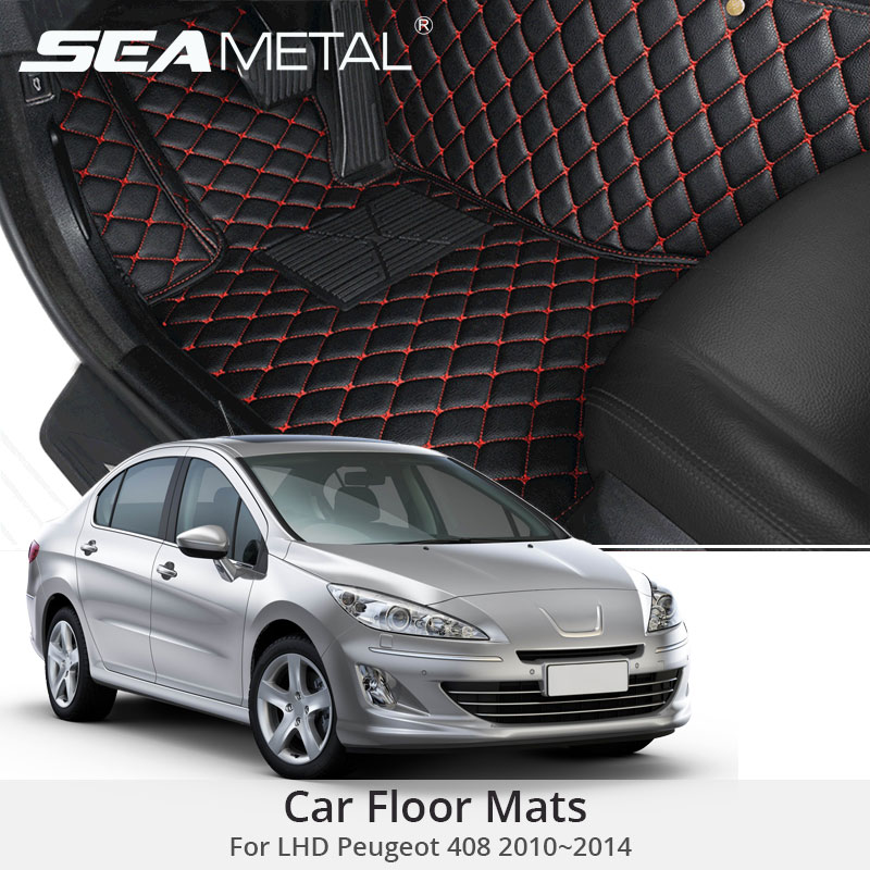 For LHD Peugeot 408 2014 2013 2012 2011 2010 Car Floor Mats Custom Rugs Auto Interior Leather Foot Mat Accessories Car-stylingFor LHD Peugeot 408 2014 2013 2012 2011 2010 Car Floor Mats Custom Rugs Auto Interior Leather Foot Mat Accessories Car-styling