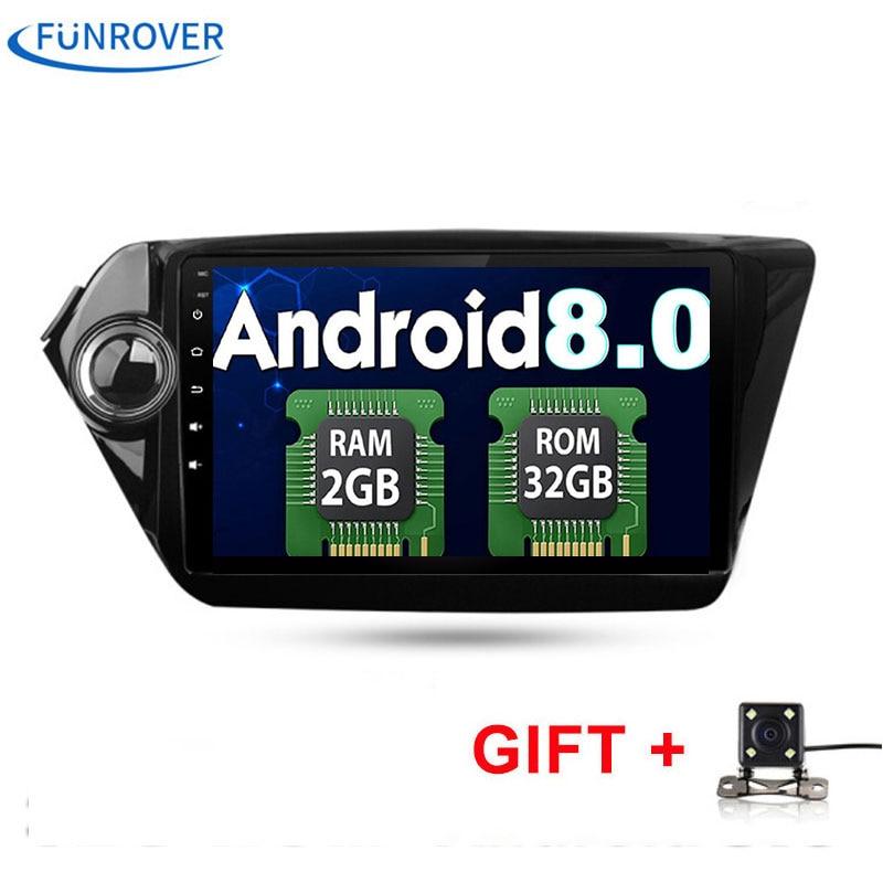 4 ядра 9 дюймов HD 1024*600 Экран Android 8,0 автомобиль DVD (нет) gps для Kia RIO K2 навигации Системы Радио Стерео Штатная RDS BT