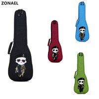ZONAEL Hot 21 23 26 Inch Ukulele Carry Bag Soprano Concert Tenor Case Backpack Hand Folk