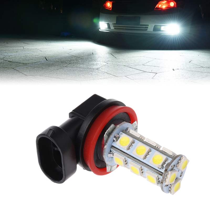 1pcs New H11 H8 <font><b>18</b></font> <font><b>LED</b></font> 5050 <font><b>SMD</b></font> Bulb 12V Car Day Driving Fog Headlight Xenon White Lamp Car Accessories image