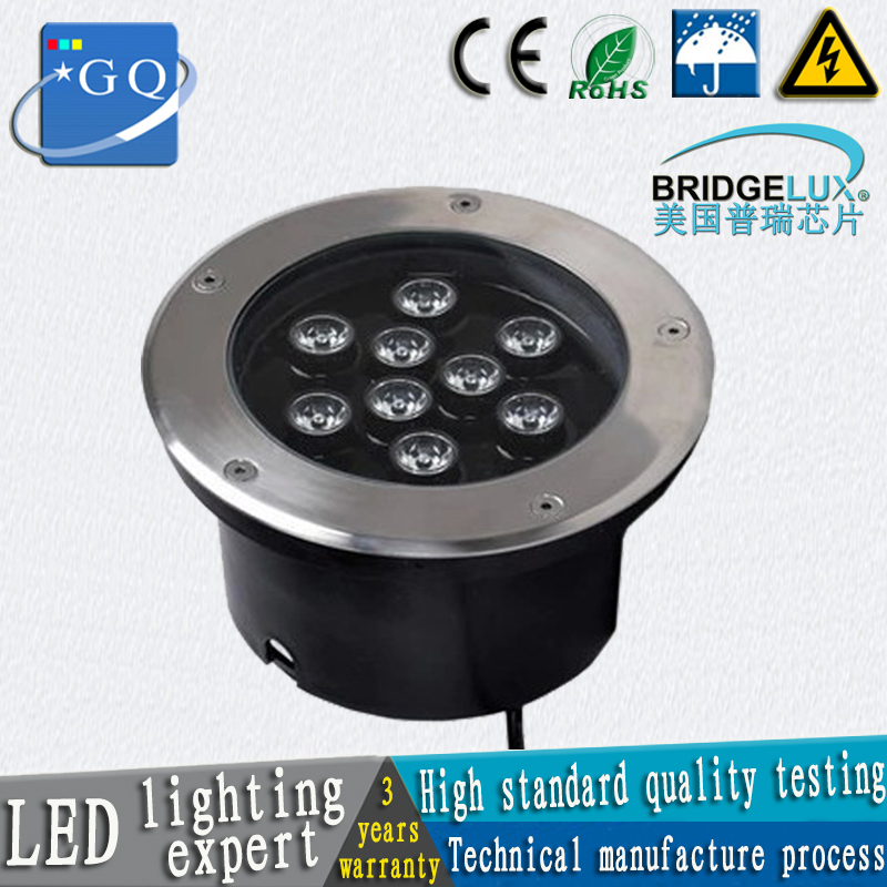 2pcs/lot 12W LED underground light 12W Buried lighting outdoor lamp light ground floor recessed foot lamp  DC12V 24V  AC110-265V 6x1w led underground light ip67 led path recessed light ac100 240v white light 400lm electric shock protection 36pcs lot