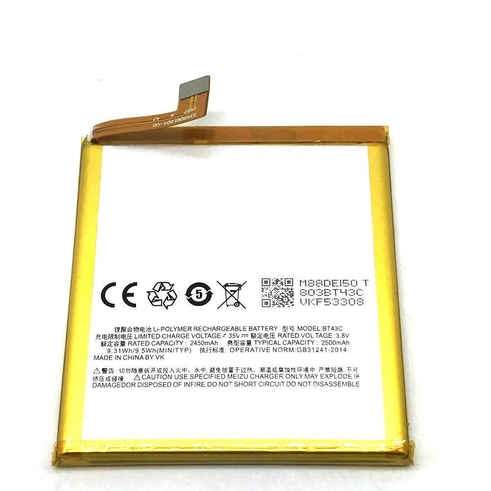 1 Pz di Alta Qualità Nuovo Originale BT43C Batteria per r Meizu Meilan 2/M2 mini M2mini Mobile Phone in magazzino + Traccia codice