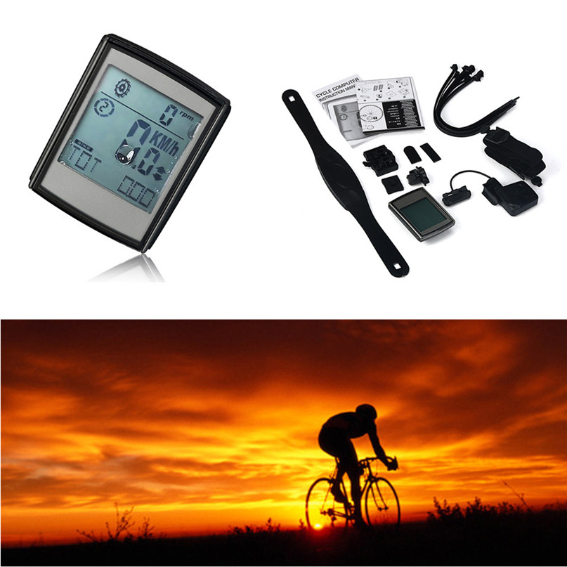 все цены на Waterproof Wireless Stopwatch Digital Bicycle Speedometer Heart Rate Monitor Cadence Speed Sensor Bicycle Computer #2M29 онлайн