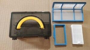 Image 2 - dust box side Brush hepa Filter Mop cloth for ilife v5 v50 v55 x5 v5s V3 V3s pro v5pro ilife v5s pro robot vacuum cleaner Parts