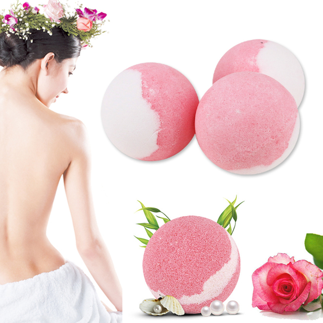 Bath Salt Bombs Balls Whitening Moisture Essential Oil Body Scrubrose Oil Bath Ball Bomb for Home Bathroom Spa Bath