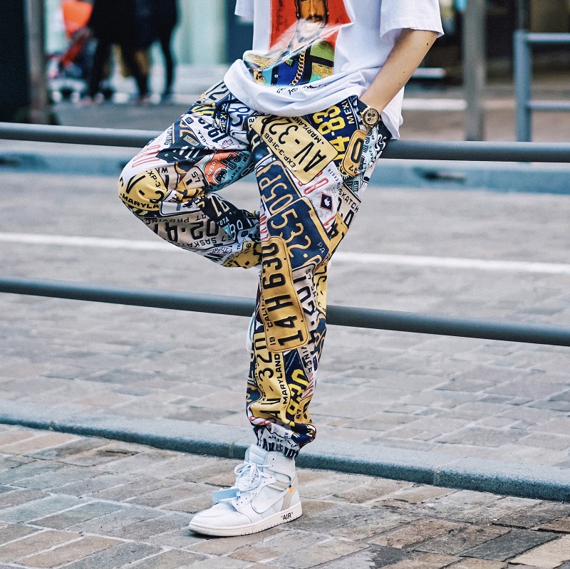 Tide Brand Hip Hop Sports Pants Men Loose Beam Pants Street Dance Ins Super Popular Pants Tide