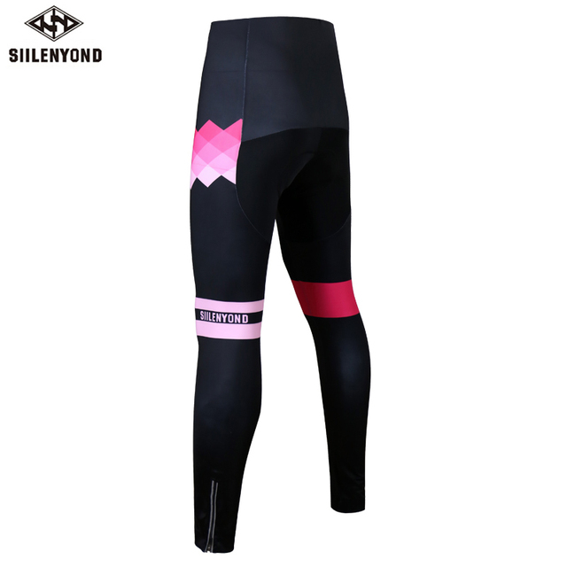 Siilenyond 2019 Winter Cycling Pants Shockproof Thermal Cycling Bicycle Trousers Keep Warm MTB Bike Cycling Tights For Women 1