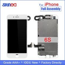"AAA كامل مجموعة 4.7 ""شاشة الكريستال السائل ل فون 6 S 6 S كاملة شاشة LCD محول الأرقام لمس كاملة الجمعية استبدال المنزل زر + كاميرا"