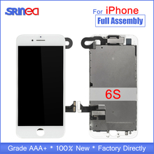 "AAA ชุด 4.7 ""จอแสดงผล LCD สำหรับ iPhone 6 S 6 S ที่สมบูรณ์แบบหน้าจอ LCD Touch Digitizer Full Assembly เปลี่ยนปุ่ม Home + กล้อง"