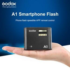 Image 1 - Godox A1 スマートフォンフラッシュシステム 2.4 グラムワイヤレスフラッシュフラッシュトリガーコンスタント Led ライトと iphone 6s 7 プラス