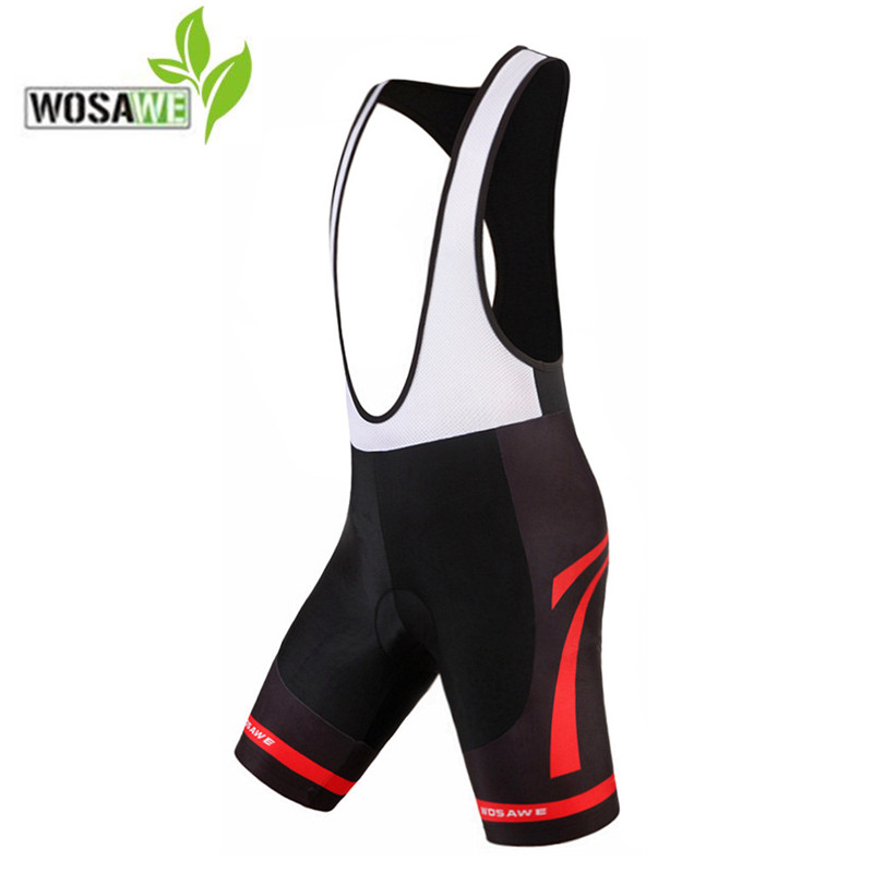WOSAWE Cycling Shorts Gel Pad Quick Dry Mesh Brace MTB Shorts Mountain Road Bicycle Bike Bermuda Ciclismo Cycling Bib Shorts